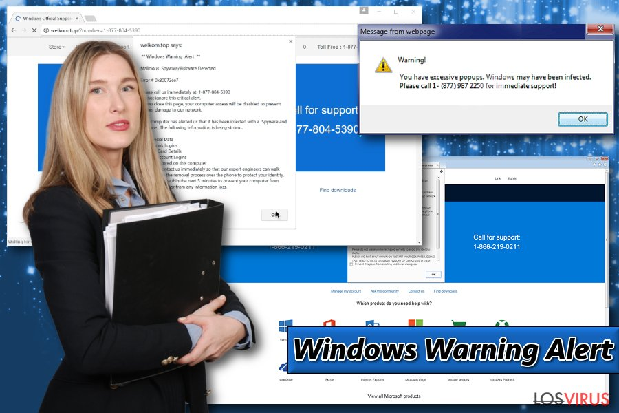 Mostrando Windows Warning Alert