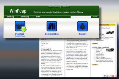 Una imagen del adware WinPcap
