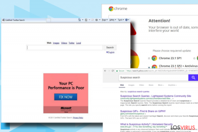 El virus Wkalle.com muestra resultados de búsqueda alterados
