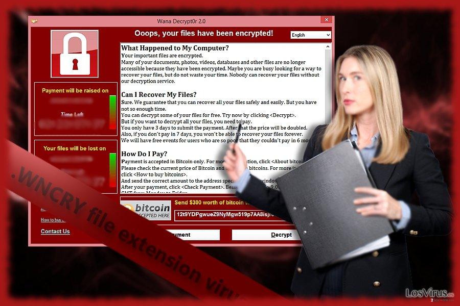 Virus extensión de archivo .WNCRY