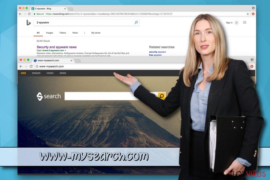 El programa potencialmente no deseado  www-mysearch.com