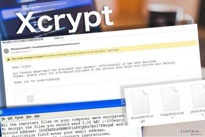 El virus XCrypt deja una nota de pago para la víctima