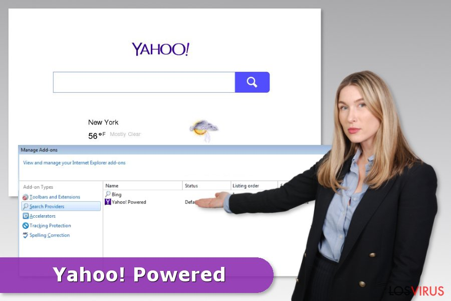 Ejemplo del hackeo de Yahoo Powered