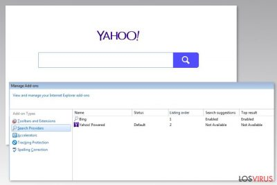 Imagen del virus Yahoo Powered