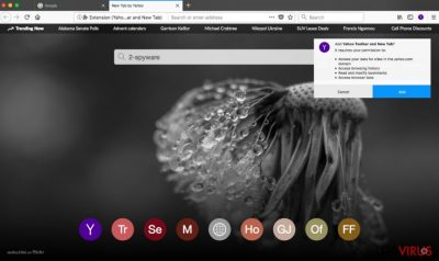 Yahoo Toolbar en el navegador web Firefox