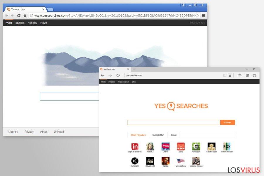 Las redirecciones de YesSearches.com foto