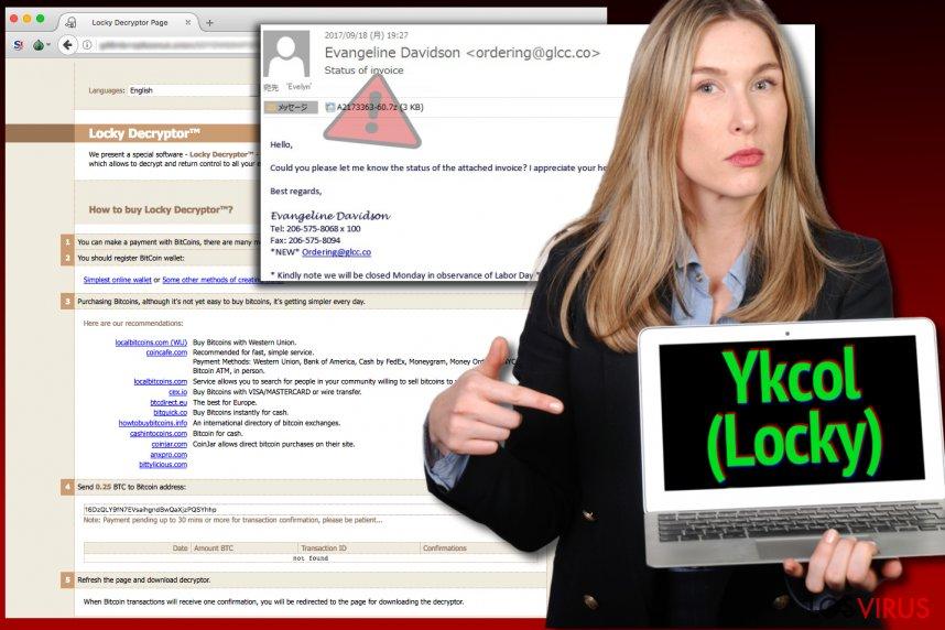 El virus Locky ahora se denomina Ykcol