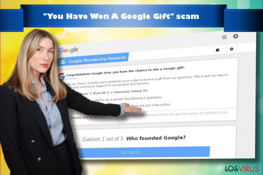 "Virus ""You Have Won A Google Gift"""