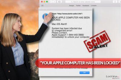"""Virus """"YOUR APPLE COMPUTER HAS BEEN LOCKED"""""""