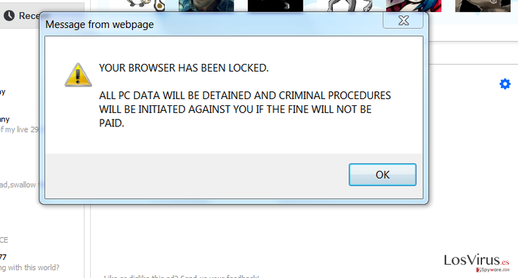 Your browser has been locked foto