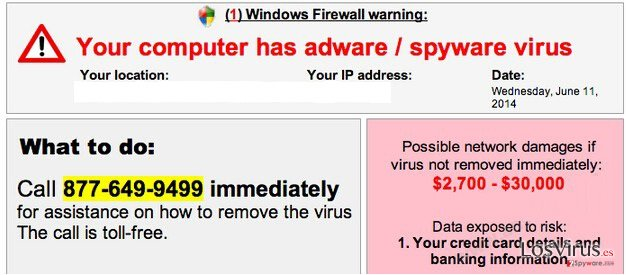 Your computer has adware / spyware virus foto
