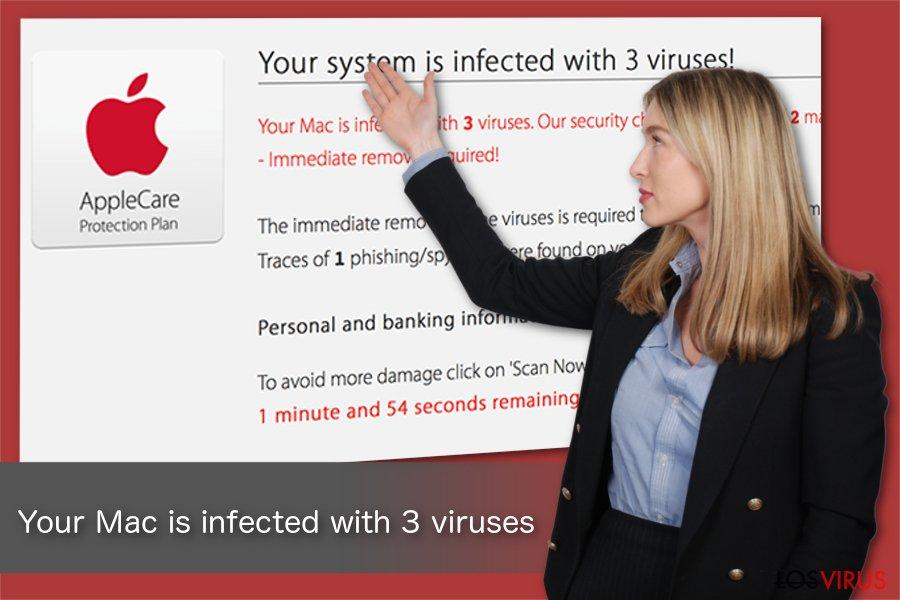 Ilustración de Tu Mac está infectado con 3 virus