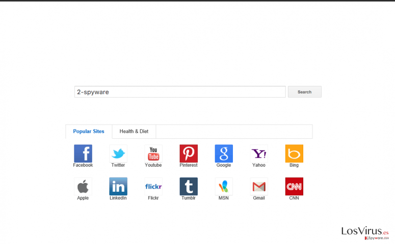 The picture showing Yoursites123 browser hijacker