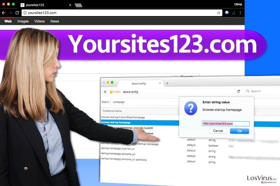 El virus YourSites123.com foto