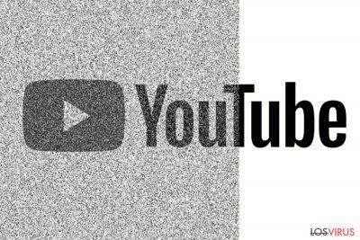 La imagen que refleja un sitio corrupto de Youtube