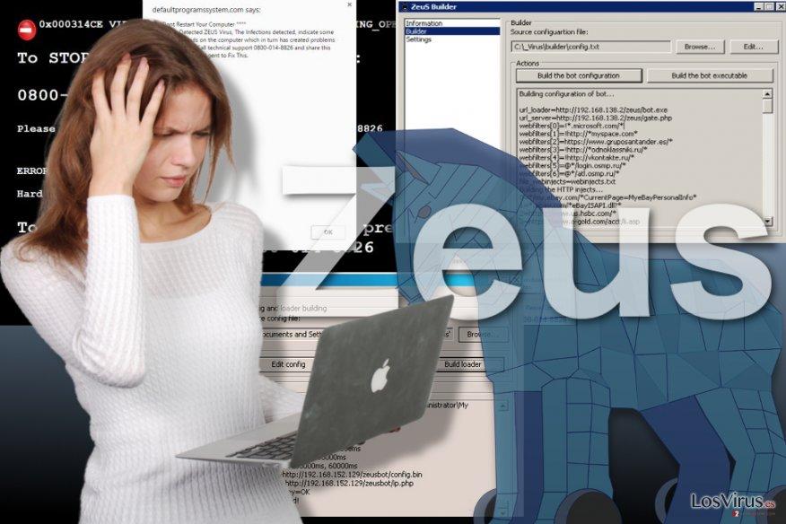 Imagen del virus Zeus